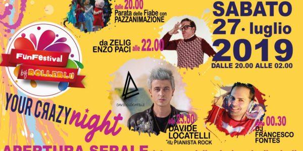 FUN FESTIVALl 2019: RIMANDATO a domenica 18 agosto